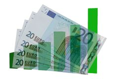 Devise européenne en hausse Images libres de droits