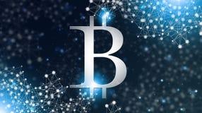 Devise globale de réseau de Bitcoin Images stock