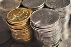 Devise indienne et pièce de monnaie Photographie stock libre de droits