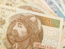 Devise polonaise de zloty photographie stock