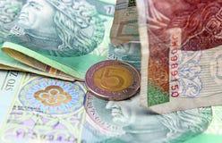 Devise polonaise (PLN). Photographie stock libre de droits