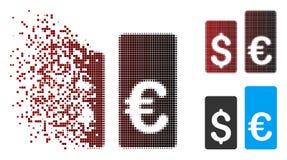 Devise tramée réduite en fragments Rate Bars Icon de pixel illustration stock