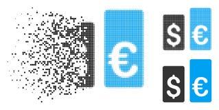 Devise tramée réduite en fragments Rate Bars Icon de pixel illustration de vecteur