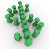 Devise verte de symbole d'argent de personnes de symbole dollar Photos stock