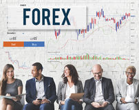 Devisen-Börse-Diagramm-globales Geschäfts-Konzept lizenzfreie stockfotografie