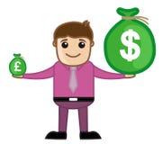 Devisen - Büro und Geschäftsleute Zeichentrickfilm-Figur-Vektor-Illustrations-Konzept- Lizenzfreie Stockfotos