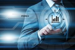 Devisen-Handelsbörse-Investitions-Austausch-Währungs-Geschäfts-Internet-Konzept stockbilder