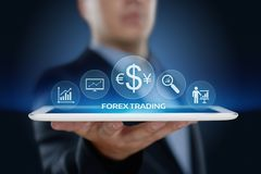 Devisen-Handelsbörse-Investitions-Austausch-Währungs-Geschäfts-Internet-Konzept lizenzfreies stockbild