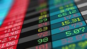 Devisenmarkthandelsdaten auf Lager lizenzfreie abbildung