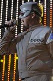 Devo performing live. Royalty Free Stock Photo