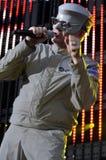 Devo performing live. Devo performing live at the 2010 KROQ Weenie Roast at the Verizon Wireless Amphitheatre in Irvine CA on June 5 2010 Stock Images
