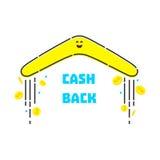 Devolución de efectivo del dinero ilustración del vector
