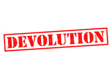 DEVOLUTION. Red Rubber Stamp over a white background royalty free illustration