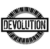 DEVOLUTION stamp on white. Background. Signs and symbols series stock illustration