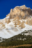 Devoluy Massif cliffs in winter. French Alps, France. Rugged mountain cliffs of the Devoluy Massif Tete de la Cluse peak in the Southern French Alps. Hautes Stock Images