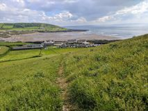 Devon beach and countryside Royalty Free Stock Photo