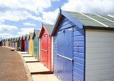 DEVON BEACH HUTS Royalty Free Stock Photos
