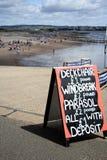 DEVON BEACH SIGN Stock Photo