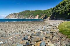 Devon Coast du nord près des villages de Lynton et de Lynmouth image stock