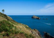 Devon Coast Path du sud chez Dartmouth Images libres de droits