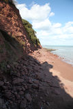 Devon Coastal Erosion Royalty Free Stock Image