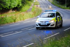 Devon and Cornwall police Car, North Devon Royalty Free Stock Photo