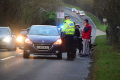 Devon and Cornwall police Deal with RTC Royalty Free Stock Photography