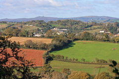 Devon Countryside. Looking across the fields of South Devon stock photography