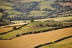 Devon countryside scenic country Stock Photos