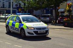 Devon en Cornwall politiewagen Stock Foto's
