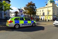 Devon en Cornwall politiewagen Royalty-vrije Stock Afbeeldingen