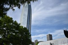 Devon Energy Tower - Downtown Oklahoma City Stock Photo