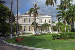Devon House, Kingston, Jamaïca stock foto's