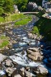 devon lynmouth rzeka w górę widok Obrazy Royalty Free