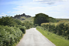 DEVON ROAD TO TOR Royalty Free Stock Images