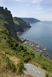 Devon dramatic coastline Stock Photography