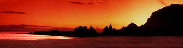 devon solnedgång Royaltyfri Fotografi