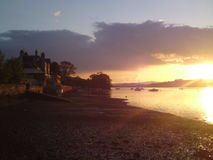 Devon sunset Stock Photo
