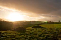 Devon sunset Stock Images