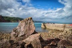 Devon torquay. Uk place colorful royalty free stock photo