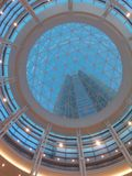 Devon tower Oklahoma City. Looking up at vast from Devon lobby Royalty Free Stock Photography
