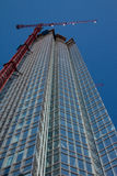 Devon Tower, Oklahoma City, OK. A view of the Devon Tower that is under construction in Oklahoma City, OK stock image
