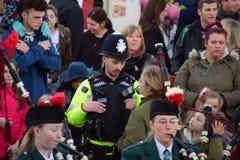Devon- und Cornwall-Polizeibeamten Stockfotografie