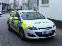 Devon- und Cornwall-Polizeiwagen Stockbild