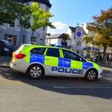 Devon- und Cornwall-Polizeiwagen Stockfotografie
