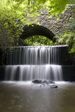 Devon Waterfall. A Waterfall under a Bridge in Honiton, Devon.U.K Stock Image