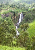 Devon Waterfall in Sri Lanka Royalty Free Stock Photography
