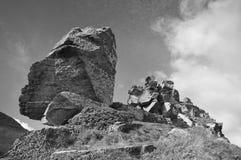 Devonian Limestone Rock outcrop Stock Image