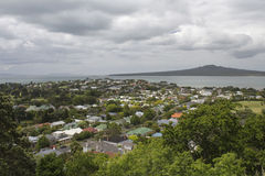 Devonport和朗伊托托岛,奥克兰,新西兰 库存照片