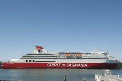 Devonport澳大利亚:塔斯马尼亚岛的轮渡精神 库存图片